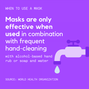 Purple When to Wear a Mask Coronavirus Instagram Post